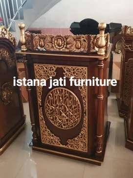 Tersedia Mimbar masjid khutbah ceramah masjid