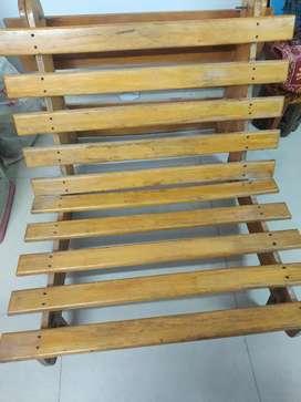 Wooden Bed cum chair