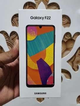 Brand New Samsung Galaxy F22, 4Gb Ram, 64Gb inbuilt. Sealed Pack.