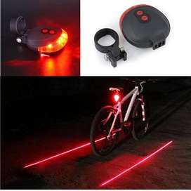 Lampu Sepeda Bicycle Laser Strobe Taillight 5 LED Solo Micro