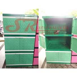 Lemari Plastik Club Max Susun 3 Lebih Lebar Murah Area Jogja (dwi)