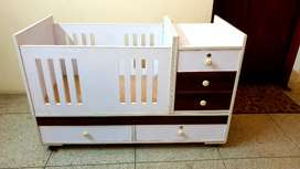 Wooden Baby cot bed 3 piece