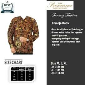 AM0073 Harga Promo COD Baju Kemeja Batik cowok Pria Kualitas terjamin