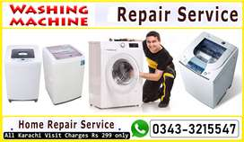 Fully Automatic washing machine Expert Work at home all karachi