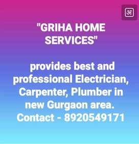 Griha home services provides best electrician, carpenter, plumber