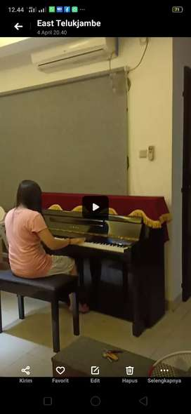 Piano Yamaha LU 101 asli original + cover beludru merah elegent
