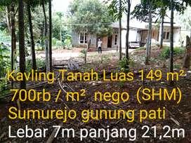 Tanah gunungpati untuk rumah maupun investasi