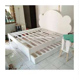 tempat tidur dipan kayu jati  mpb226
