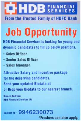 Leading NBFC looking for field staffs