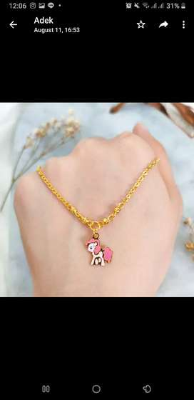 Necklace Anak Pendant  Indonesia Jewellery Gold Kalung Emas asli