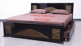 It's a brand new teak wood double cot (COD)
