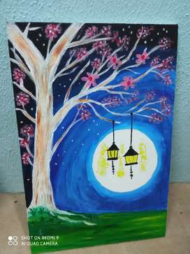 Hand made beautiful paintings by Areesha Shoukat on Canvas