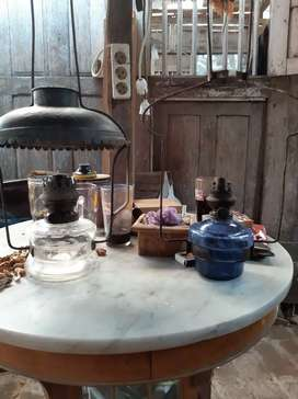Lampu antik minyak kaca