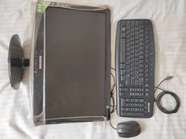 Samsung Monitor, Microsoft Keyboard and Mouse