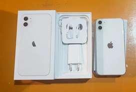 Iphone 11 64Gb white mulus like new bergaransi resmi ibox 11bulan lbih
