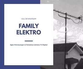 Jual pasang antena tv digital lokasi Bekasi Kota