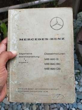Buku Antik Manual Instruksi Mesin Lokomotif Mercedes Benz Maybach