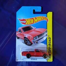Hotwheels Datsun 620 pick up merah