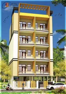 2bhk flat with 2 toilet & bathroom drawing room balcony