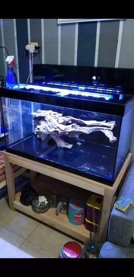 Aquarium 1 set uk 90x50x50 kaca 5 mm