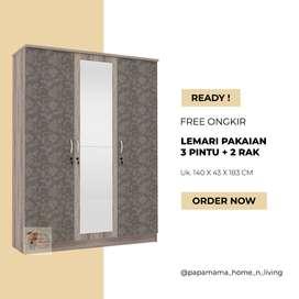 lemari Pakaian 3 Pintu - Lemari Baju Aruna - Medan