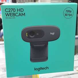 Kamera Webcam Logitech Original C270 Buat Laptop Komputer PC 720P