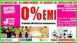 18months EMI 0% DOWN PAYMENT EMI FOR FURNITURE'S & ELECTRONICS @ TVM