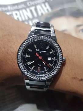 SALVATORE FERRAGAMO F-80 Factory Diamond AUTOMATIC Unisex Watch