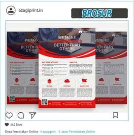 Paket Hemat - Brosur Bahan Ap 120- 1 sisi - Size A5 2 Rim