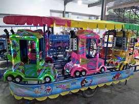kereta gerobak panggung AR usaha mainan pasar malam odong2 murah
