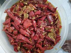 Red chilli  Pickle without preservatives.