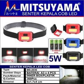 Senter Kepala LED COB Mitsuyama MS-2036 Batere