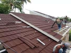 Baja ringan dan Atap Metal Pasir Terpasang Tompo Resik BerGARANSI