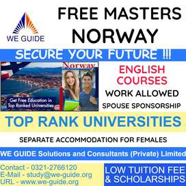 FREE STUDY IN NORWAY for Pakistani Students - Male & Female