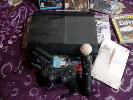 Play station 3 with camera and moving console