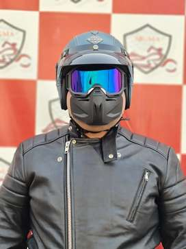 Brand New Leather Helmets for Harley Choppers & Cafe Racer Lovers