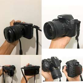 Kamera nikon d3400 + fujifilm XM1