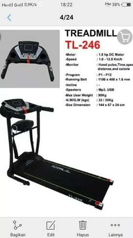Harga promosi treadmill elektrik 5 fungsi termurah