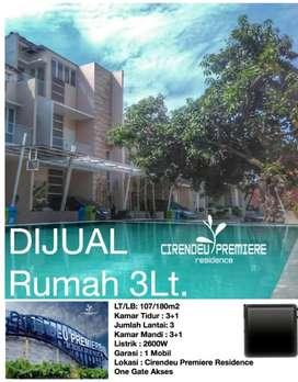 Rumah 3 lantai siap huni di Cirendeu Tangerang selatan