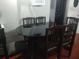 All Black - Simple & Elegant - Dining Table + 6 Chairs