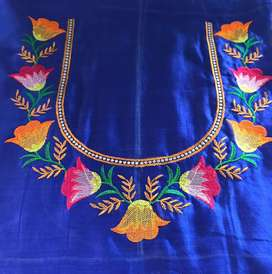 Conputer embroidery work