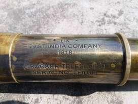 East India Company 1818 15 km Range Full Brass Copper Telescope