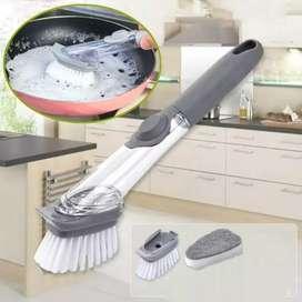 sikat dan sabut dispenser cuci piring dapur