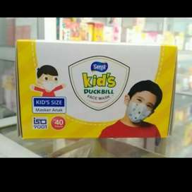 Masker Sensi Duckbill Anak 3 Ply Isi 40 Pcs
