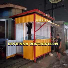 Jual container booth lipat custom semicontainer usaha custom foodcourt
