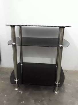 1 tv trolley, 1 single bed with drawer and 6 dining table chairs
