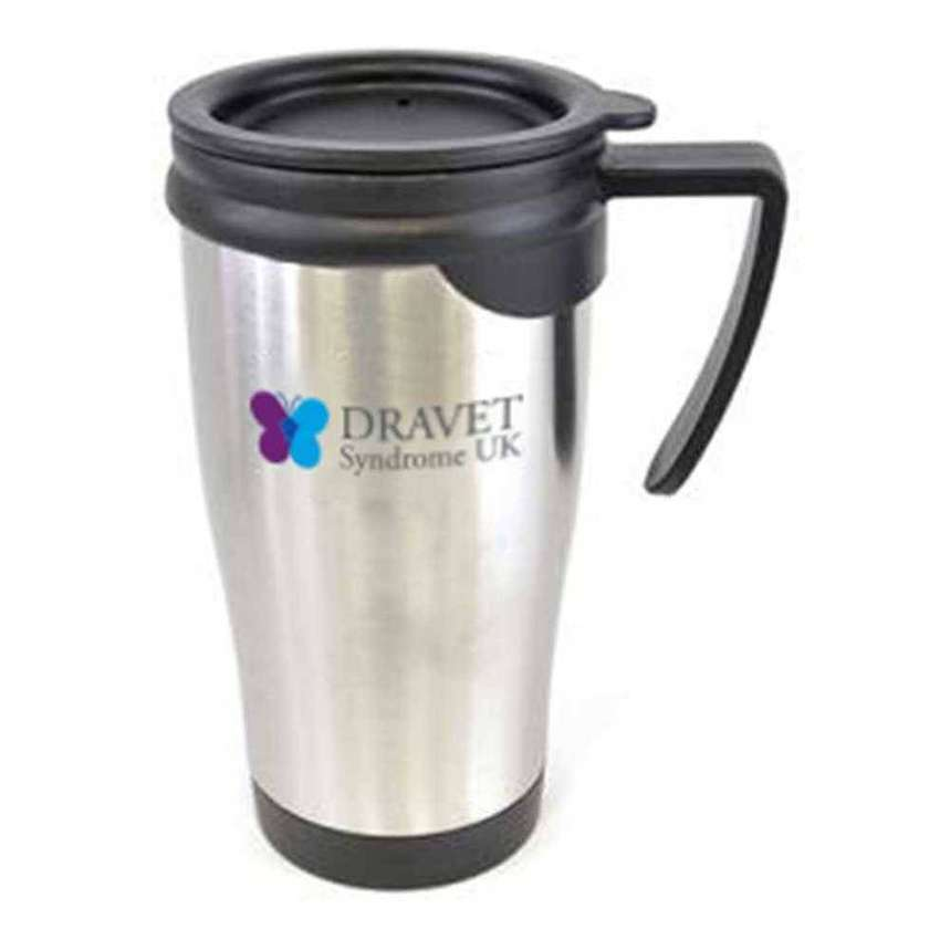 UK imported Double Walled Stainless Steel Metal Travel Mug Thermos 0