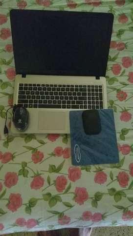 Asus laptop+mouse+mousepad+4G Jio router