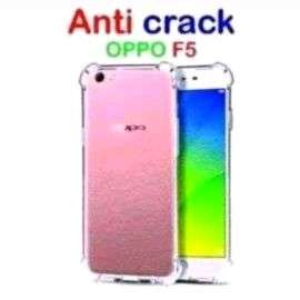 Case Oppo F5 Anti Crack Silicone Lentur Clear New