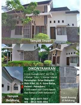 Disewakan Rumah di Perumahan Griya Maharani dekat Giant Panam
